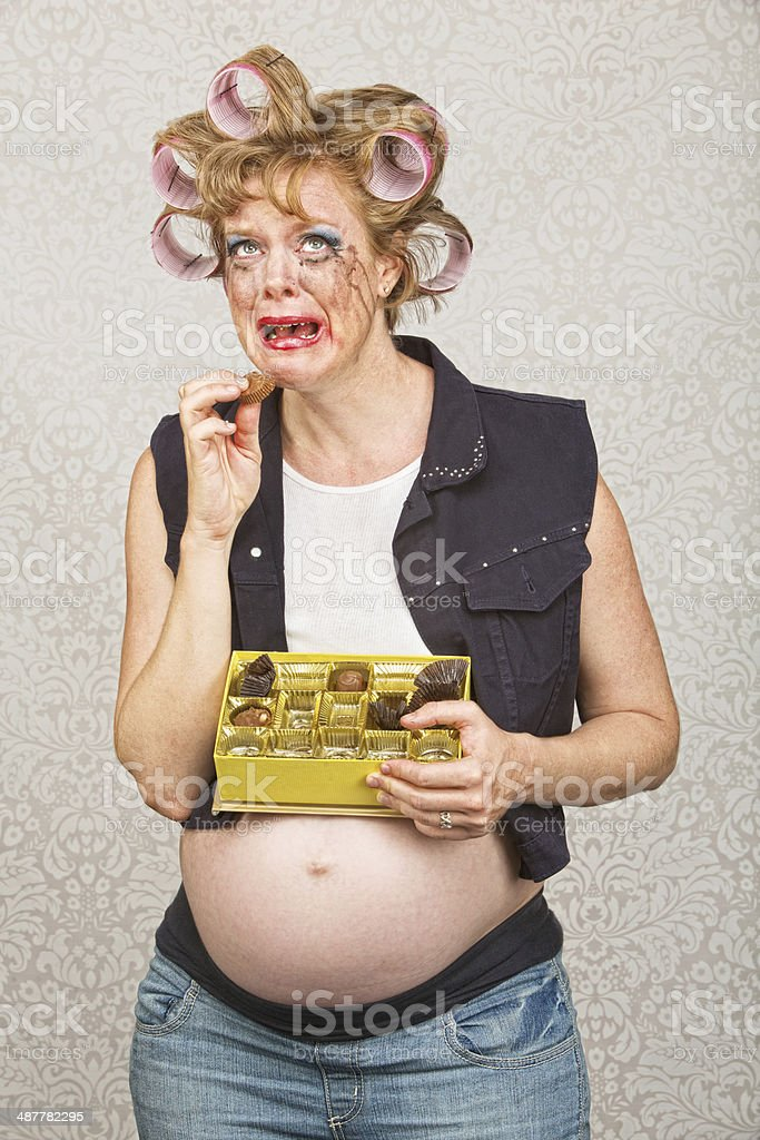 Deprimida mujer embarazada - foto de stock