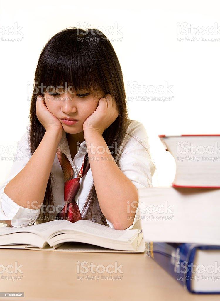 Depressed student royalty-free stock photo