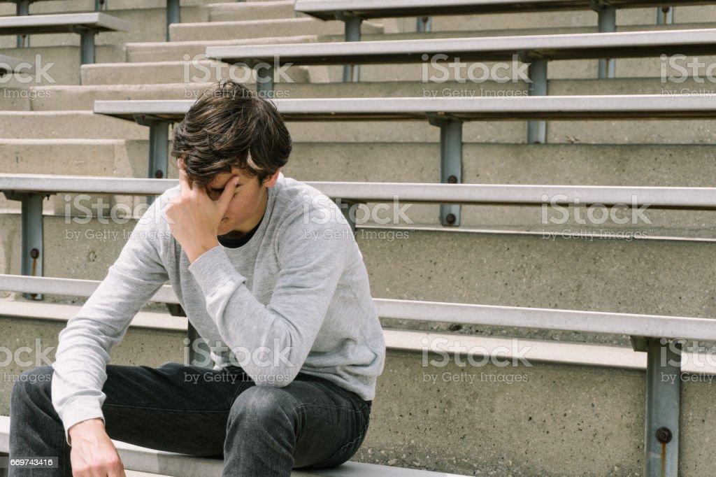 Depressed Teen стоковое фото