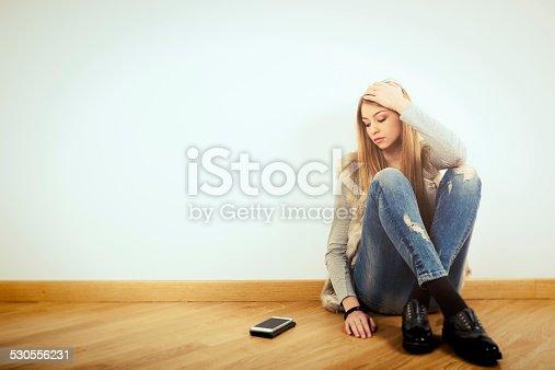 istock Depressed teenage girl 530556231