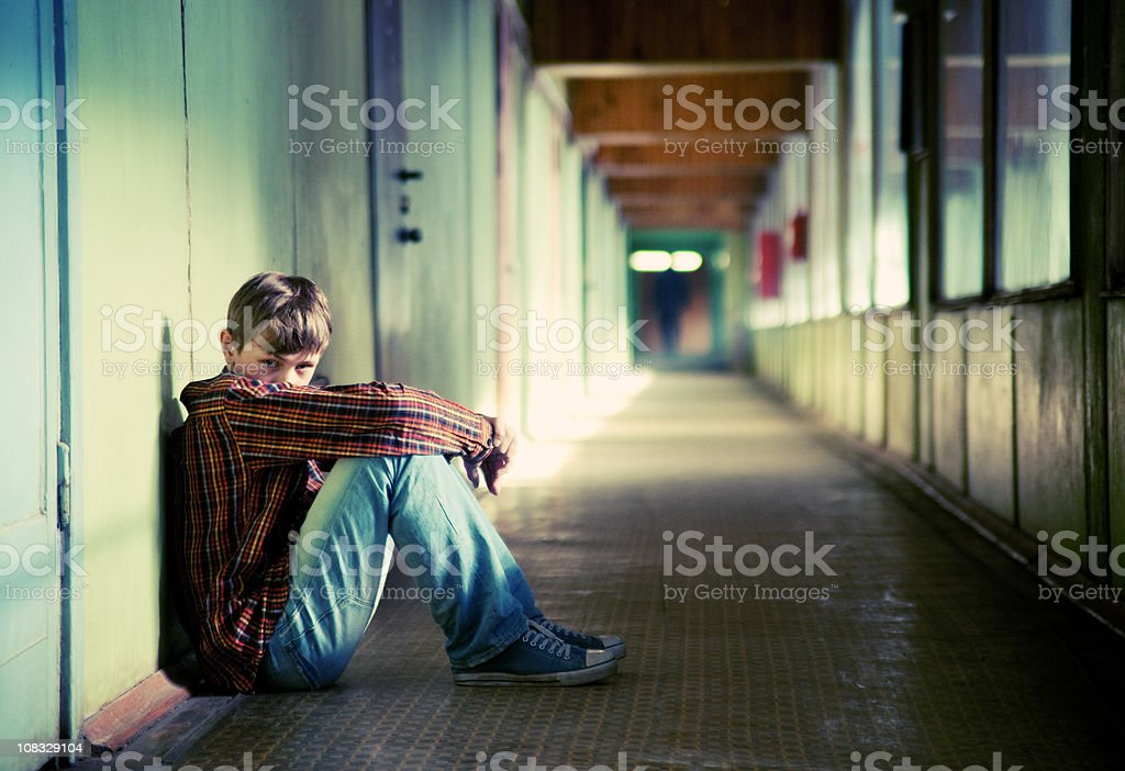 Депрессии Подросток стоковое фото