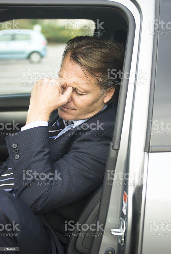 Depressed tired businessman. royalty-free stock photo