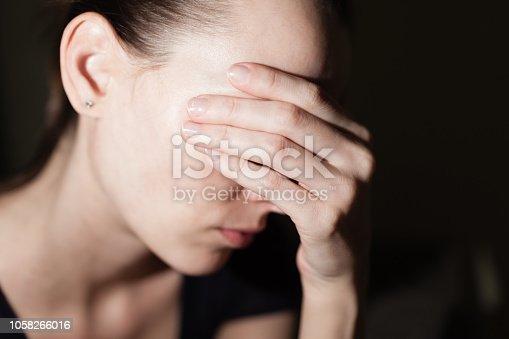 istock Depressed woman 1058266016