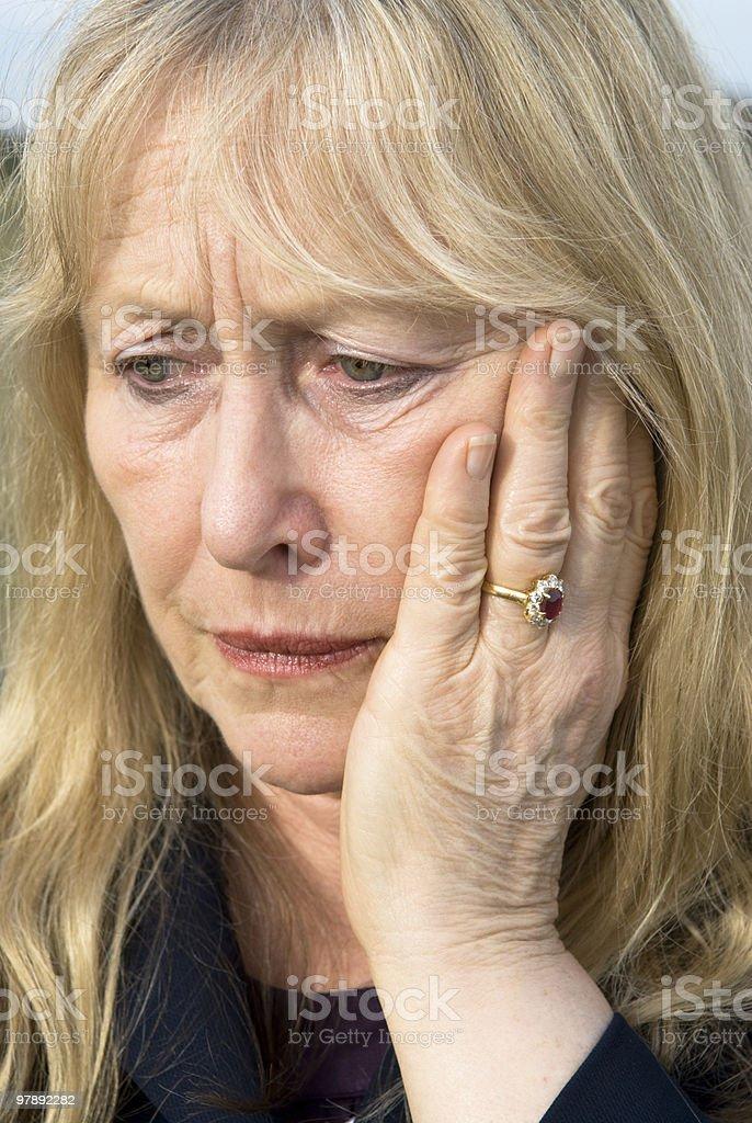 Depressed woman. royalty-free stock photo