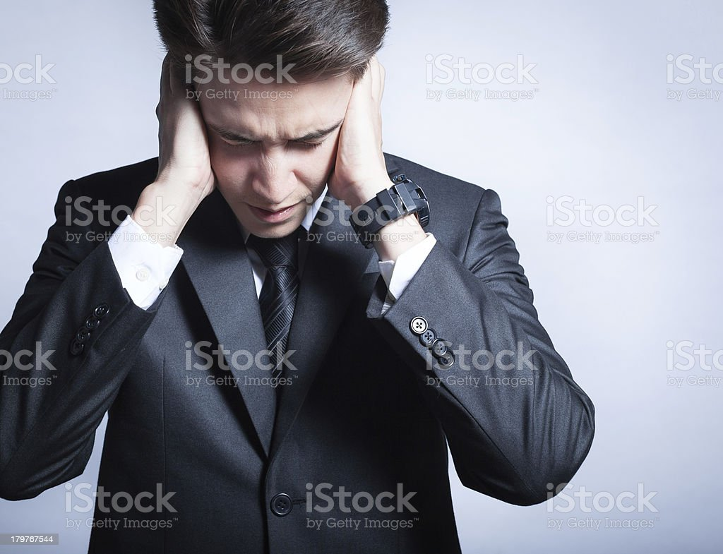 Depressed young businessman royalty-free stock photo