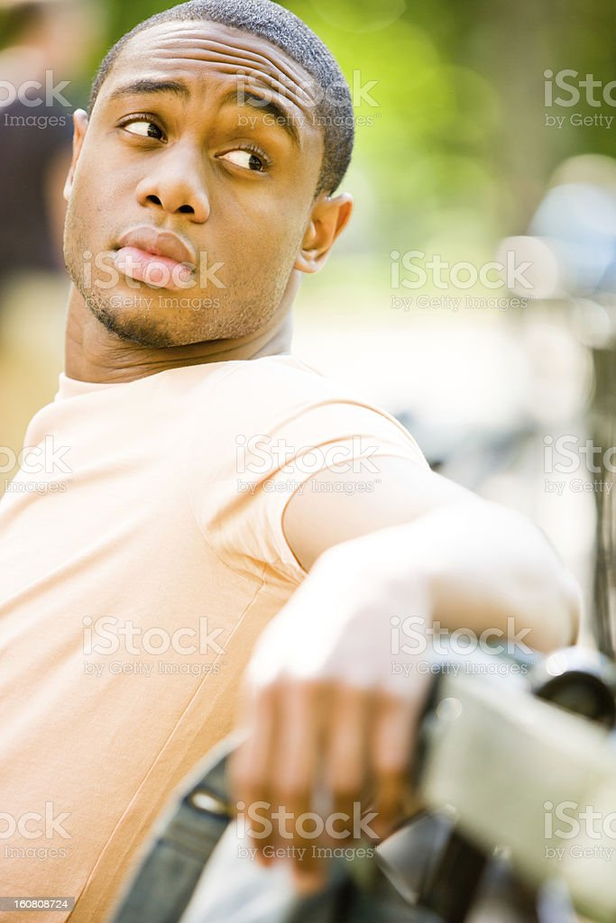 Depressed Young Man outdoors royalty-free stock photo