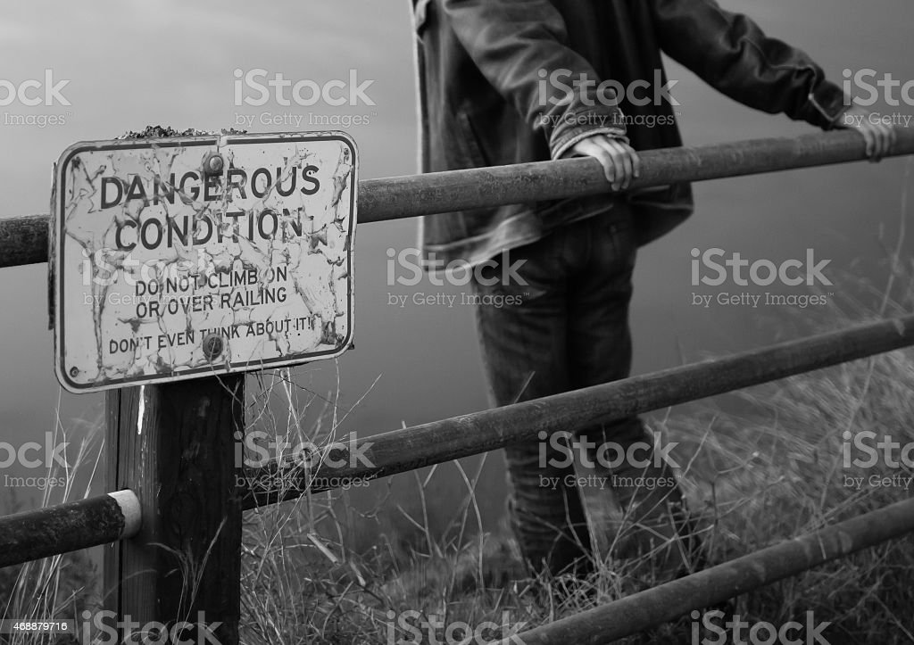 Depressed young men stock photo