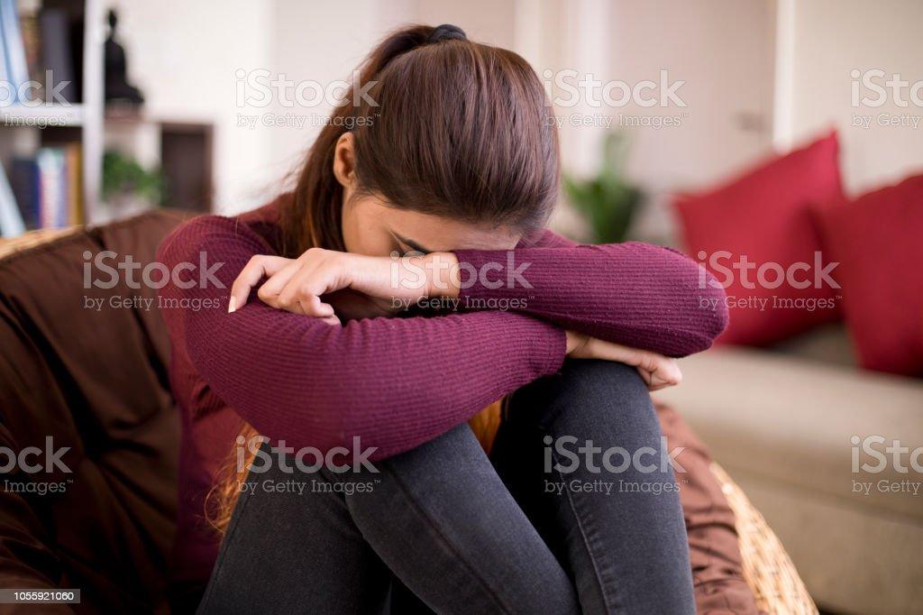 Depressive junge Frau – Foto