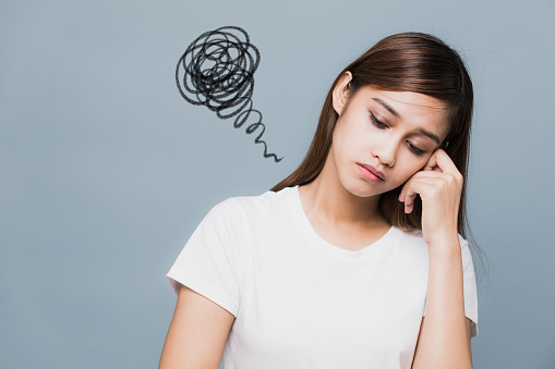 Depressed Young Woman Stock Photo - Download Image Now