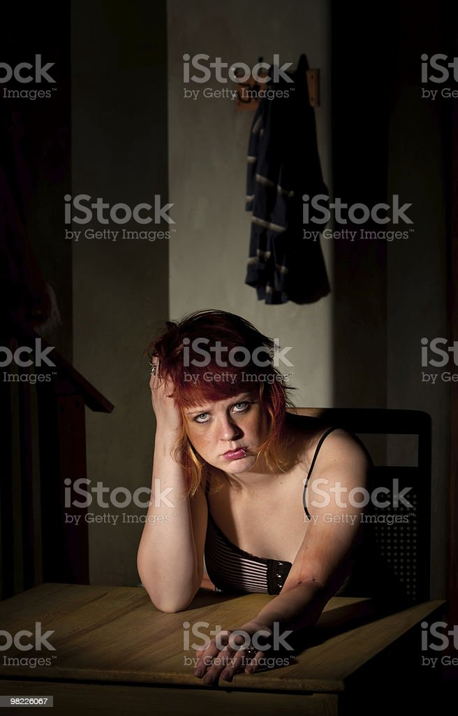 Depressed young woman royalty-free stock photo