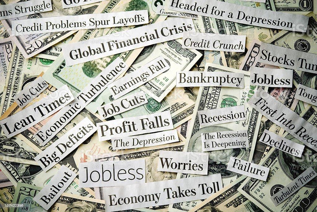 Depressing economy news - I royalty-free stock photo