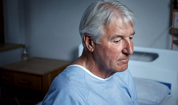 depression among older adults is more common than we think - psychiatric ward stock photos and pictures