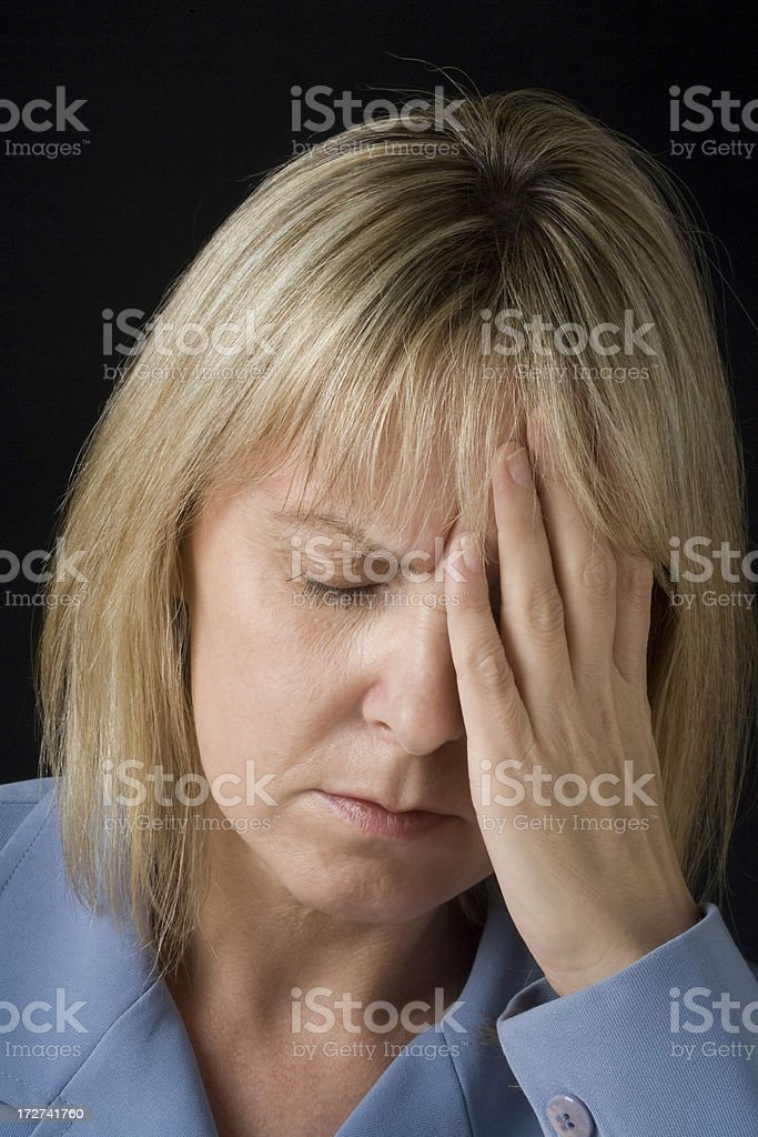 Depression and headache royalty-free stock photo