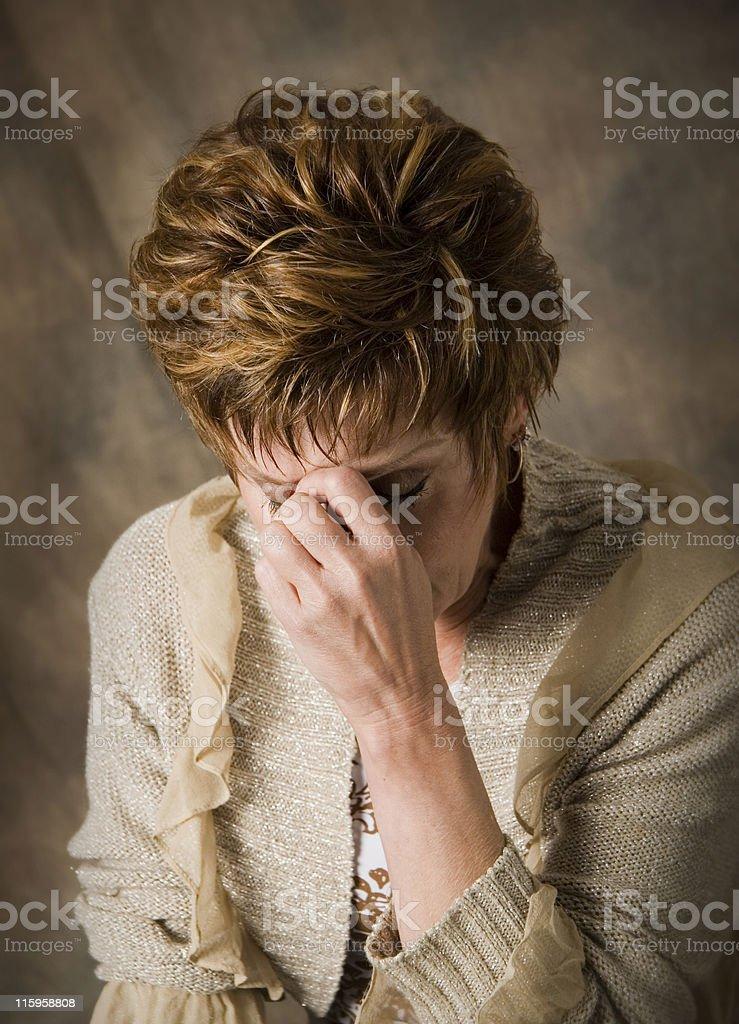 Depression and Sorrow royalty-free stock photo
