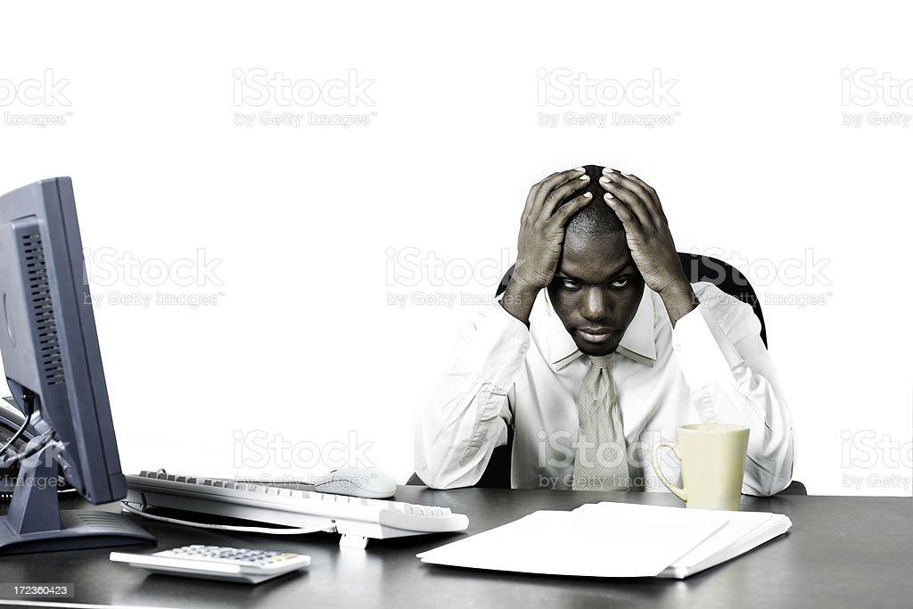 Depression at work stock photo
