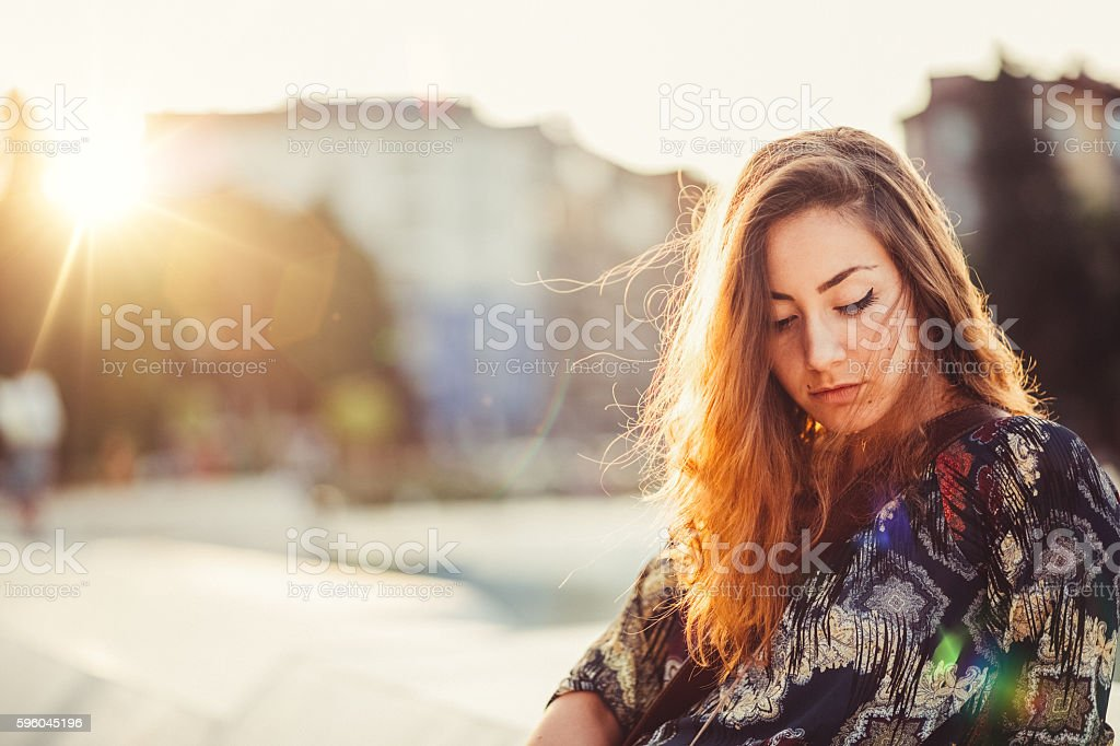 Depression in women royalty-free stock photo