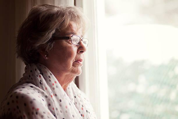 Depression eine ältere Frau – Foto