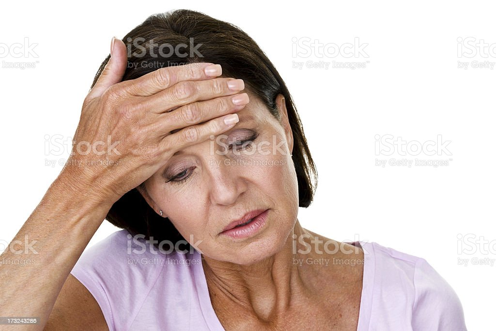 Depression or headache concept royalty-free stock photo