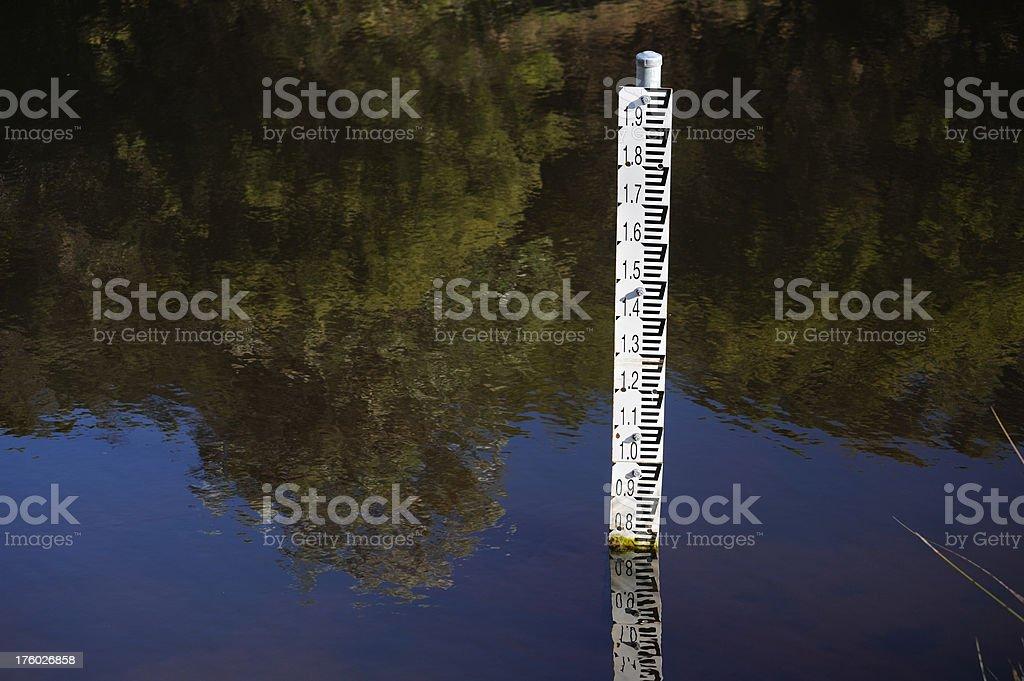 Depth Measurement in Water royalty-free stock photo