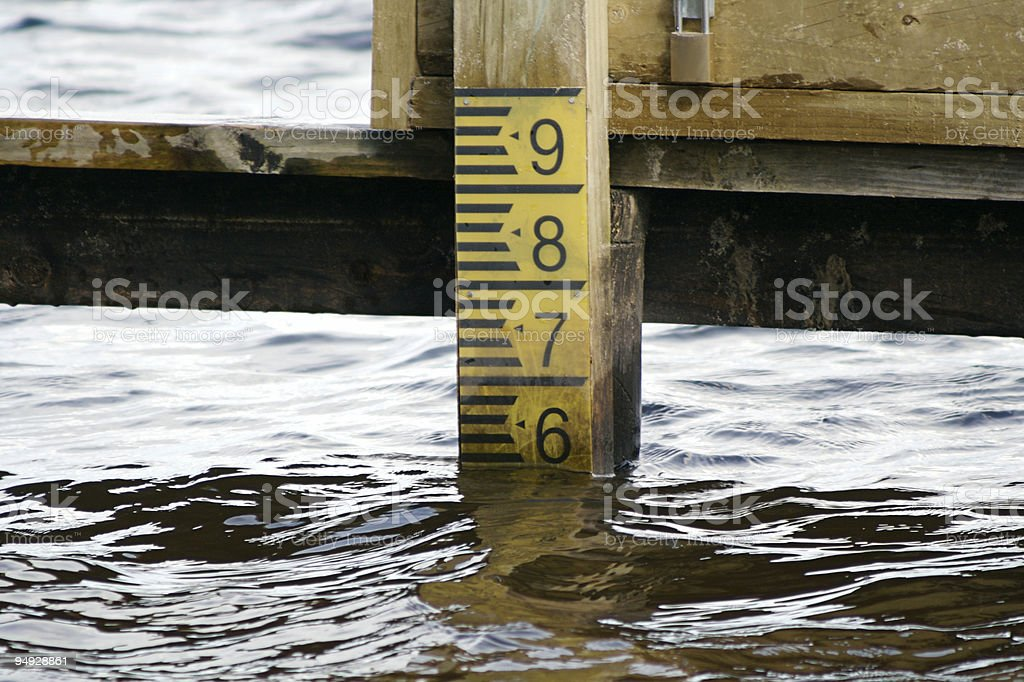 Depth meter stock photo