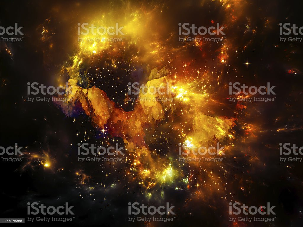 Depth of Nebula stock photo