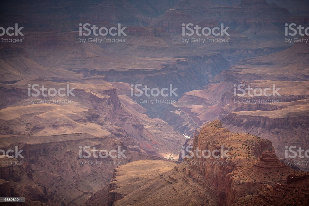 Depths of the Grand Canyon stock photo