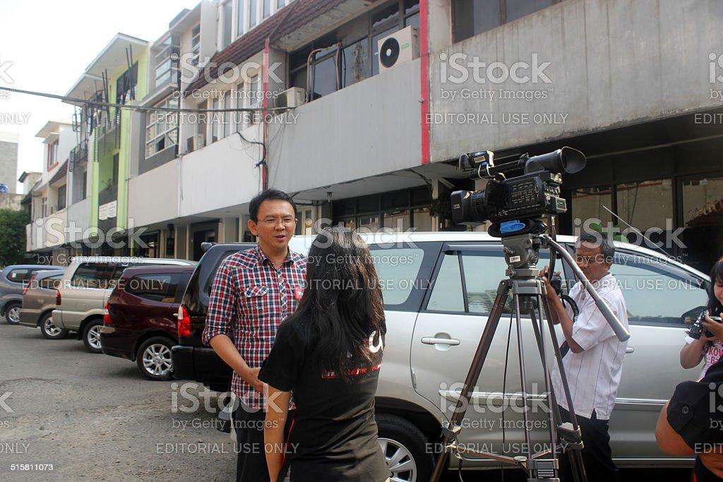 Deputy Governor of Jakarta Basuki Tjahaja Purnama stock photo