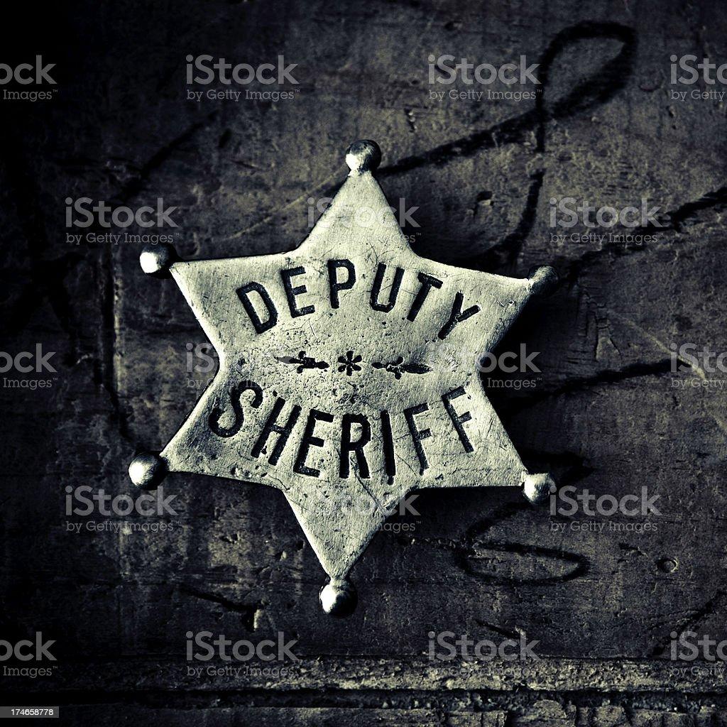 deputy sheriff badge royalty-free stock photo
