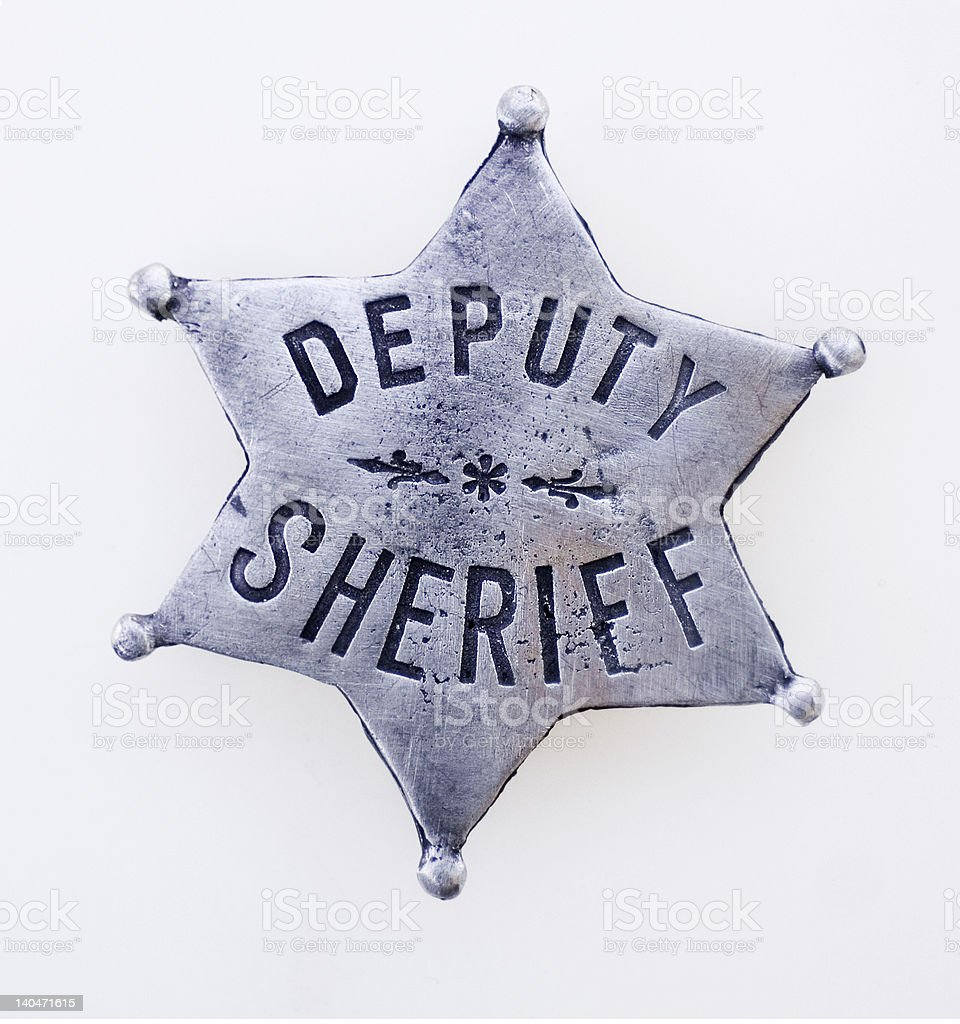 Deputy Sheriff Star stock photo