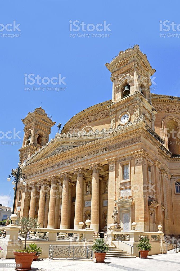 Der Dom in Mosta auf Malta, Ansicht rechte Seite royalty-free stock photo