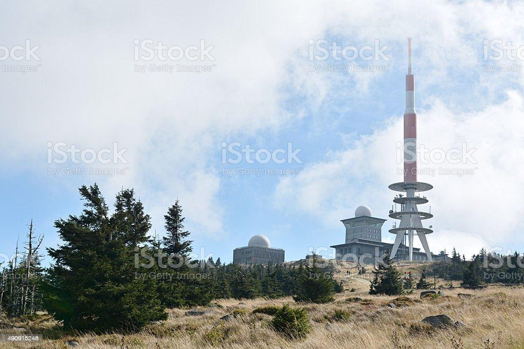 Der Gipfel des Brocken stock photo