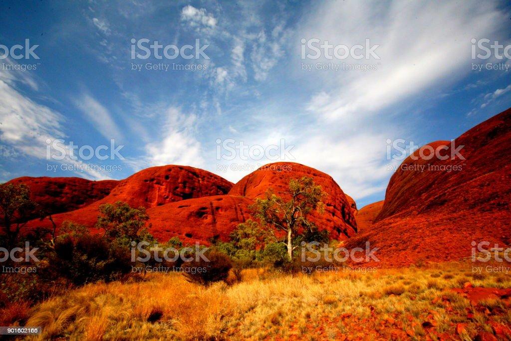 Der Himmel über dem Outback stock photo