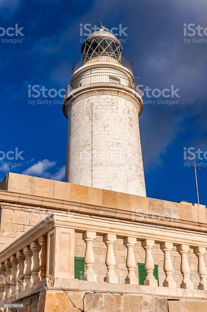 Der Leuchtturm am Cap Formentor auf Mallorca (Far de Formentor) stock photo