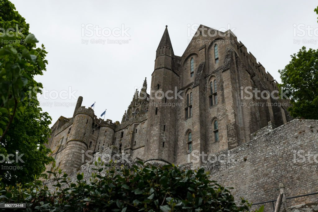 Der Mont Saint Michel In Der Normandie Frankreich Stock Photo Download Image Now Istock