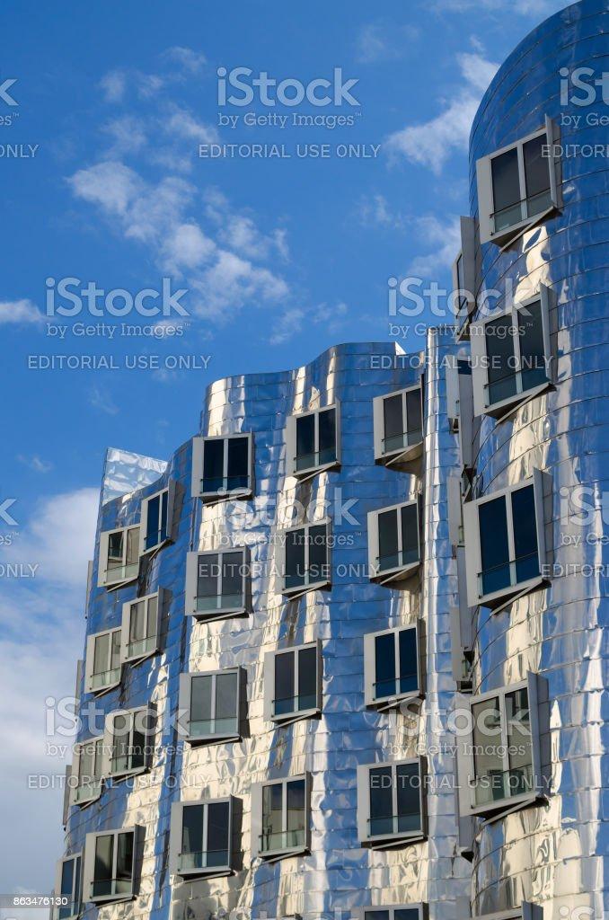 Der Neuer Zollhof facade stock photo