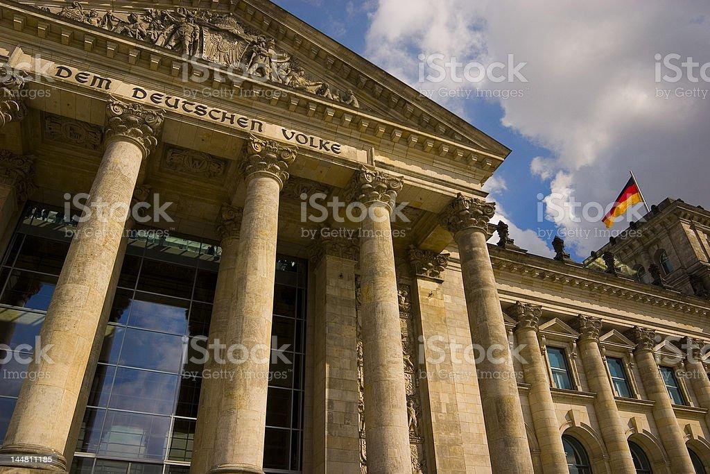 Der Reichstag in Berlin stock photo