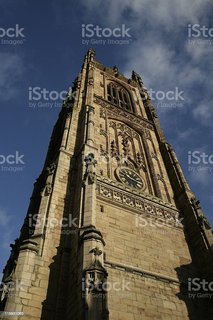 Derby Cathedral tower royalty-free stock photo