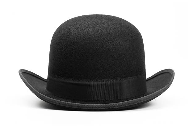 Derby hat on white background stock photo