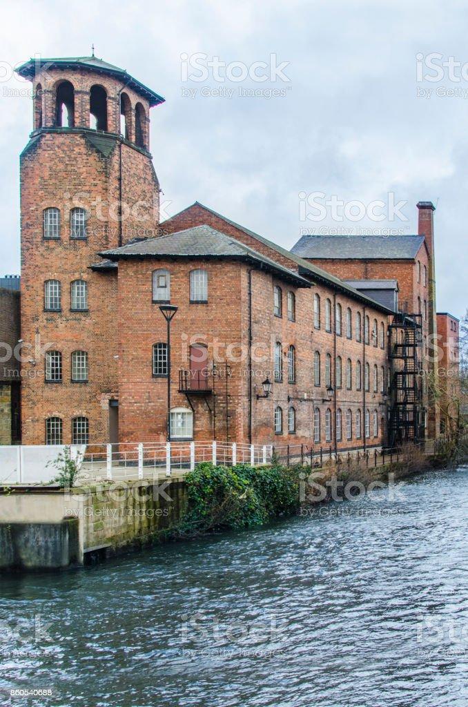 Derby Silk Mill stock photo