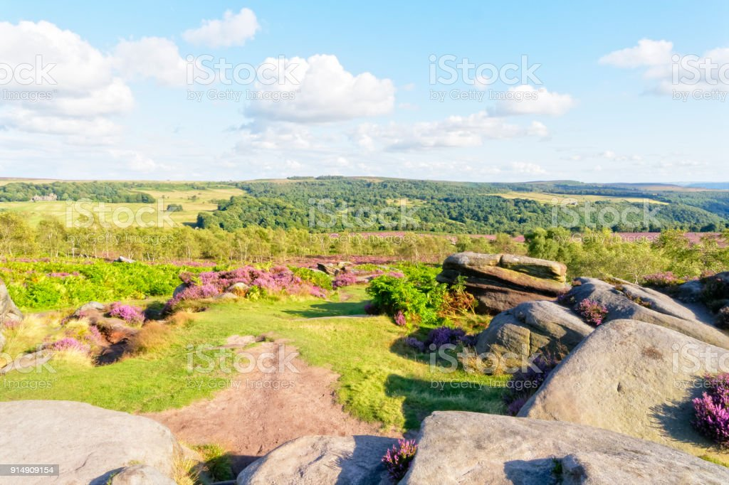 Derbyshire landscape stock photo