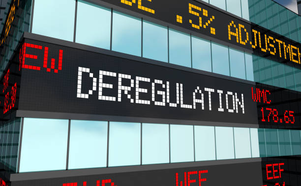 Deregulation Stock Market Rules Laws Trading Ticker 3d Illustration Deregulation Stock Market Rules Laws Trading Ticker 3d Illustration deregulation stock pictures, royalty-free photos & images