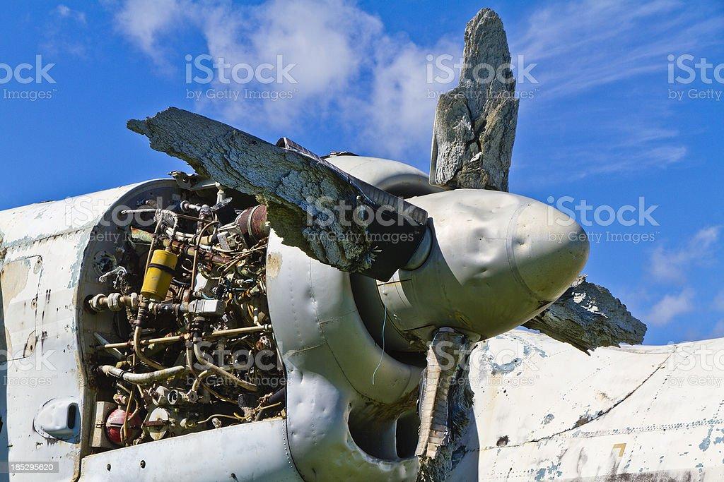 Derelict Aircraft, Grenada W.I. royalty-free stock photo