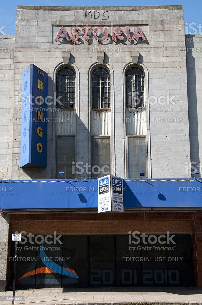 Derelict Astoria Theatre in Brighton stock photo