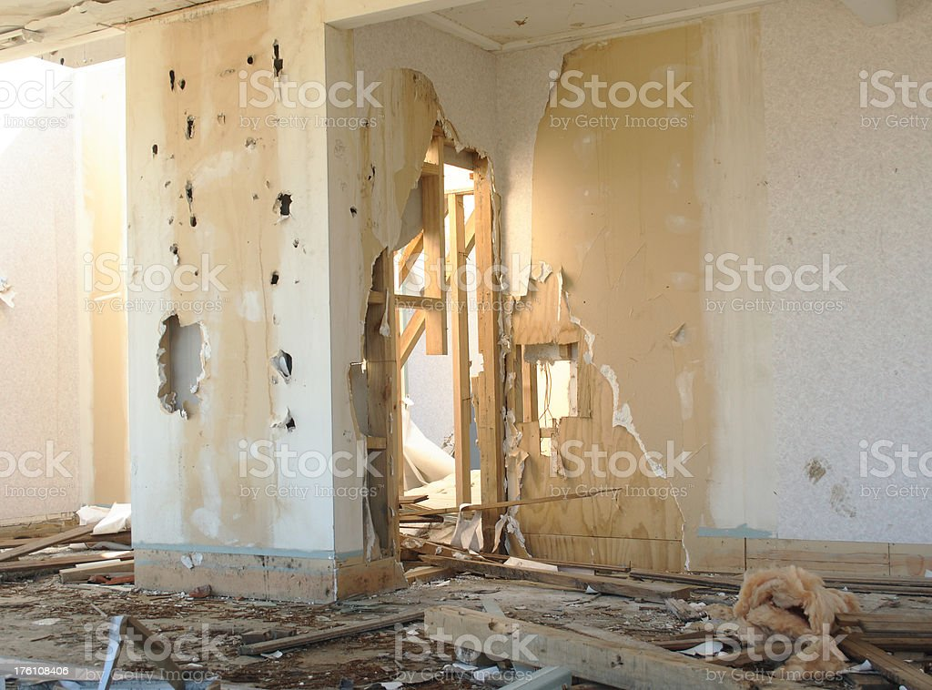 Derelict building awaits demolition royalty-free stock photo