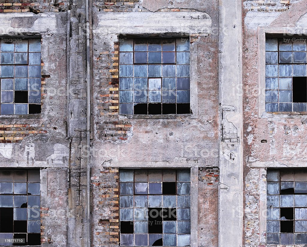 Derelict building royalty-free stock photo