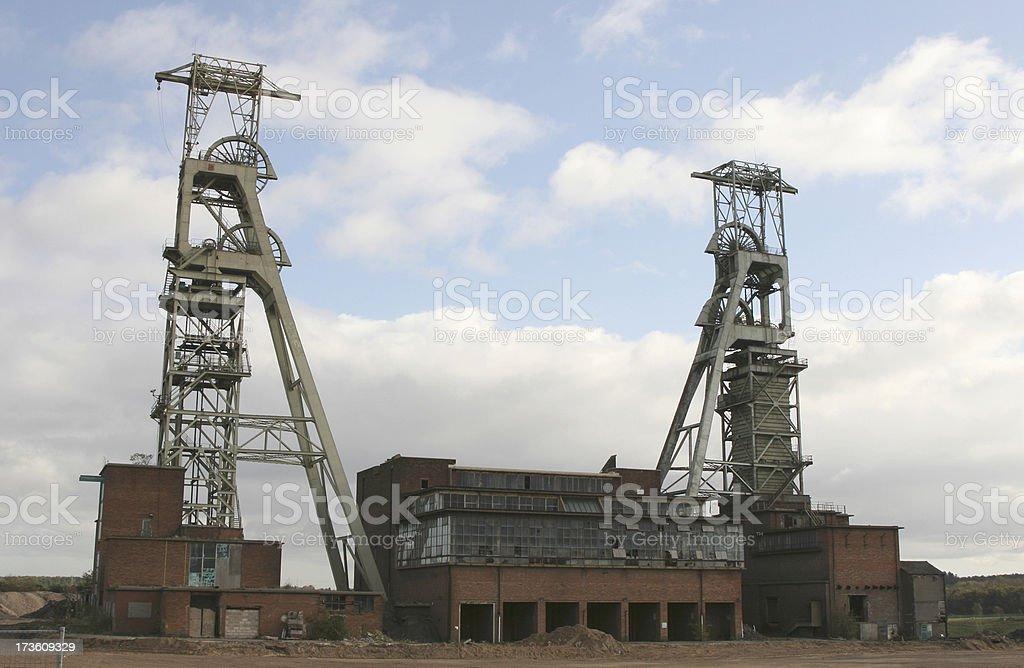 Derelict  coal mine, South Yorkshire Coalfield royalty-free stock photo