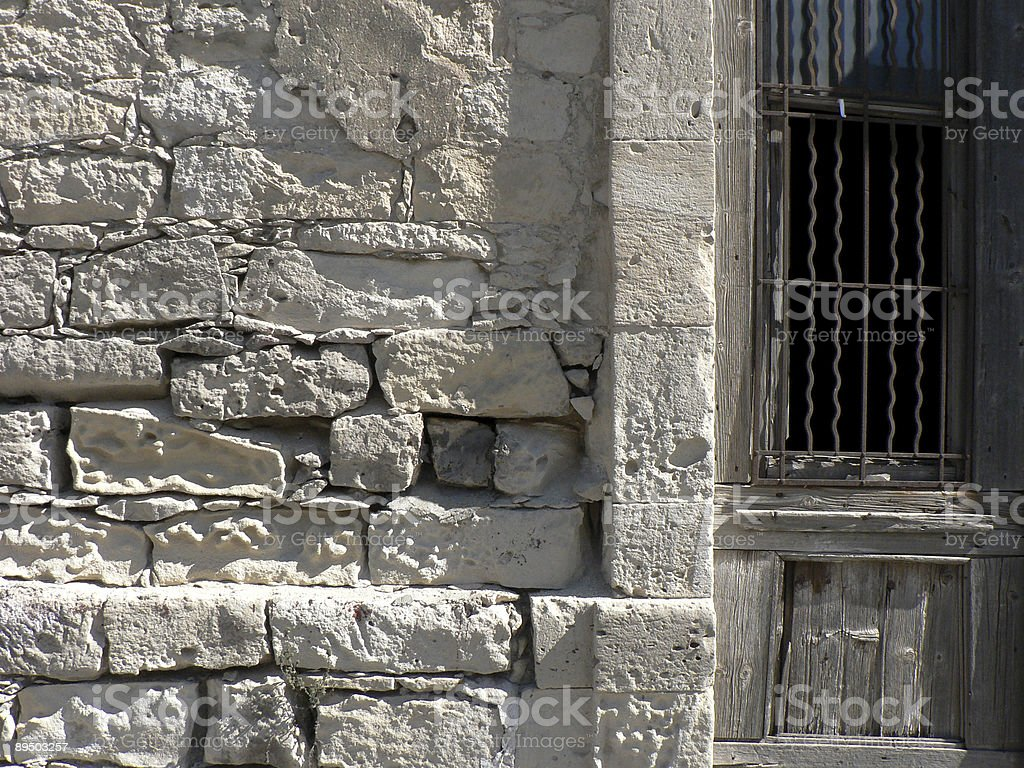Derelict Door and Wall royalty-free stock photo