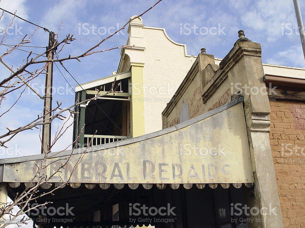 Derelict general repair store royalty-free stock photo