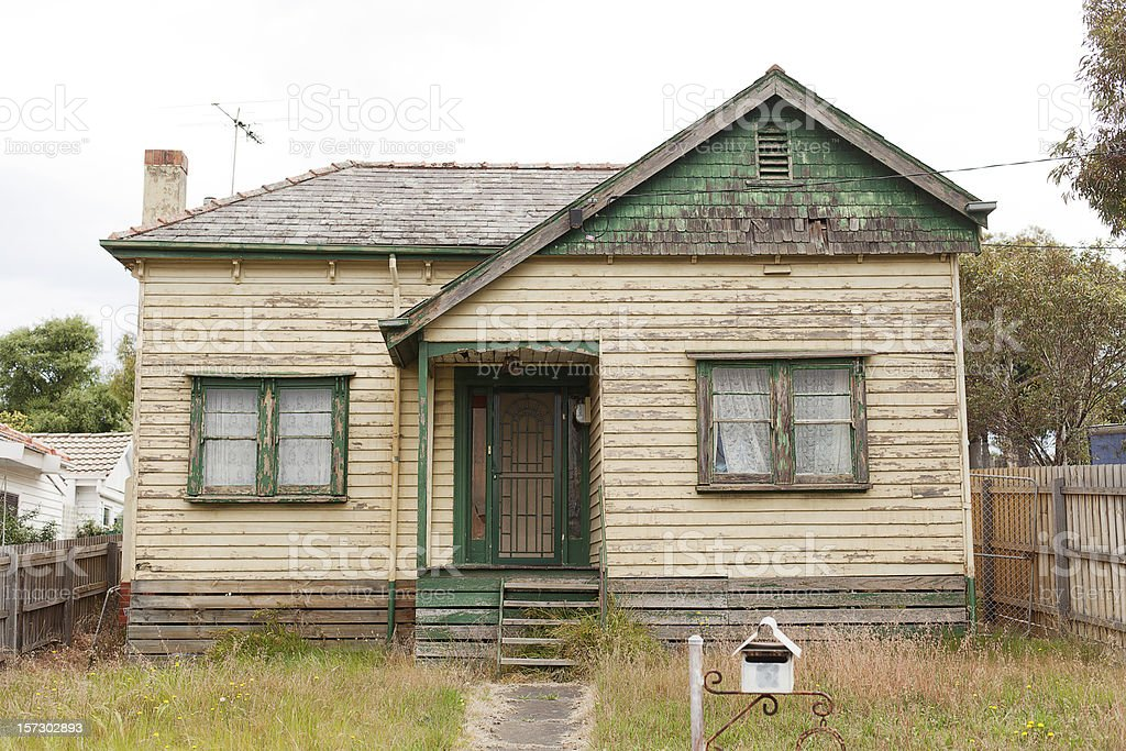 Derelict House stock photo