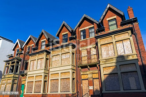 Derelict property waiting to be knocked down for re-development in Merseyside.